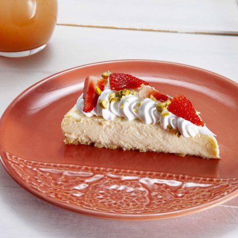 Cheesecake de Morango com Pistache