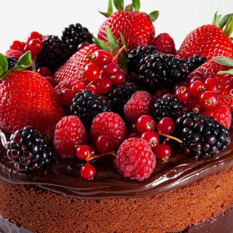 Naked de Chocolate com Frutas Vermelhas