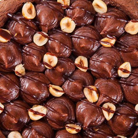 Torta brownie de Chocolate com Avelã