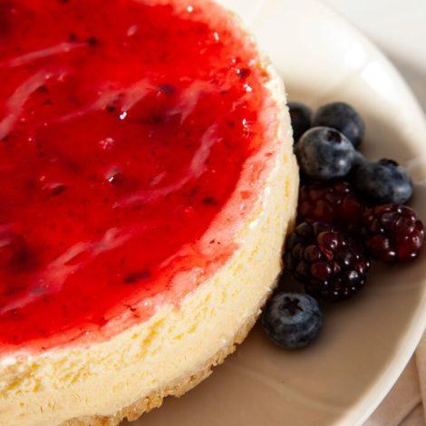 Cheesecake Cobertura de Frutas Vermelhas