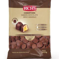 Cobertura Fracionada sabor chocolate meio amargo